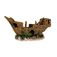 Декорация для аквариума Trixie Обломки корабля 36 см (полиэфирная смола)