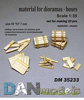Материал для диорам: набор для изготовления 10 деревянных ящиков