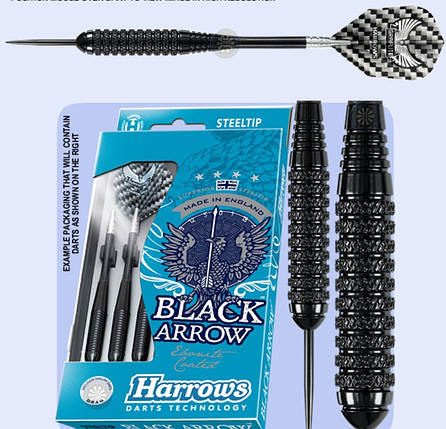 Дартс дротики Harrows Black Arrow 21 и 24 грамма, фото 2