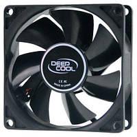 Вентилятор 80 mm Deepcool XFAN 80 черный лак, 80x80x25мм, HB 1800 об/мин, 20дБ 4pin