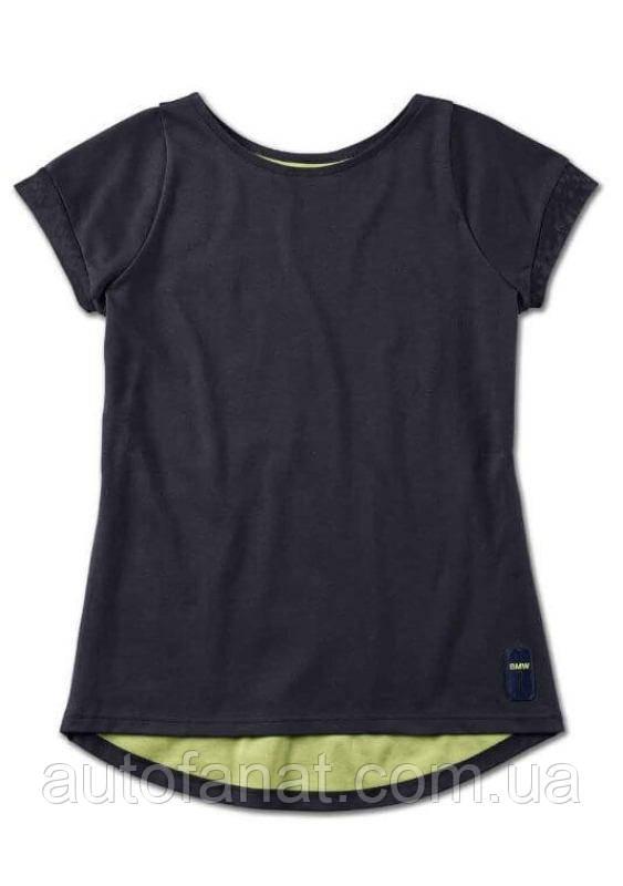 Оригинальная женская футболка BMW Active T-Shirt, Ladies, Blue Nights / Wild Lime (80142460998)
