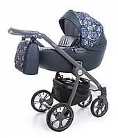 Детская универсальная  Коляска Roan Esso 2 в 1 Blue Sequins