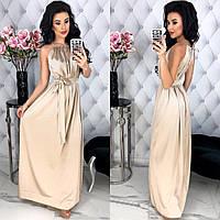 Шикарное женское шёлковое платье в пол