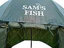 Зонт-палатка Sams Fish диаметр 2.5 метра (окно ПВХ), фото 3