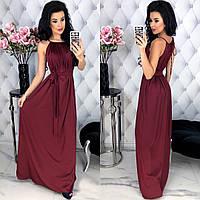 Шикарное женское шёлковое платье в пол размер универсальный