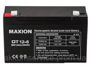 Промисловий Акумулятор UPS MAXION 6 - 12 (6V,12Ah)