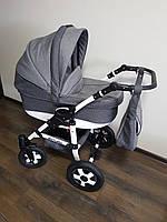 Детская универсальная коляска 2-в-1 Saturn Len (Сатурн лен) пластиковая корзина L-20 серый