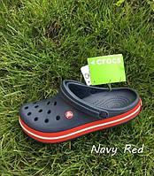 Кроксы мужские синие летние легкие шлепки Crocs Crocband