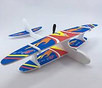 Самолет аккумуляторный, 28см, пенопласт, 3 вида, USB зарядное, 1115