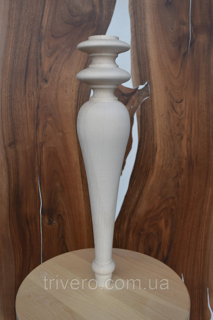 Мебельные ножки и опоры деревянные для консоли H.500 D.100