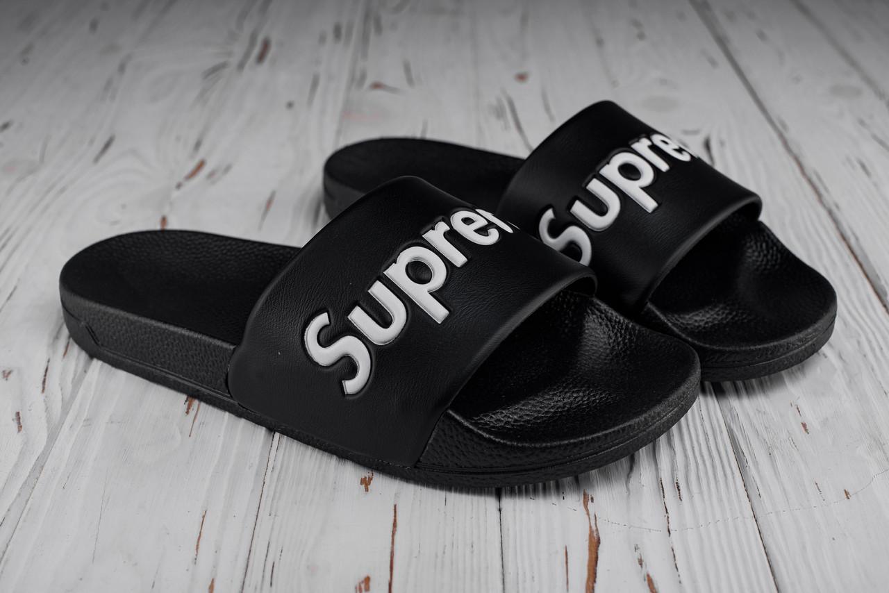 Мужские черные сланцы Supreme (реплика)