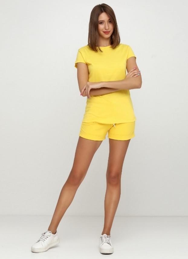 Футболка женская спортивная, цвет ярко желтый
