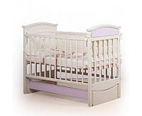 """Кроватка детская """"Kiddy"""" Вальтер-С цвет Слоновая кость + розовый"""