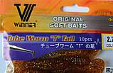 Силиконовая приманка съедобная Tube Worm (Червь), TBR-012, цвет 009, 10шт., фото 2