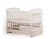 """Кроватка детская """"Kiddy"""" Вальтер-С цвет Слоновая кость + ваниль"""