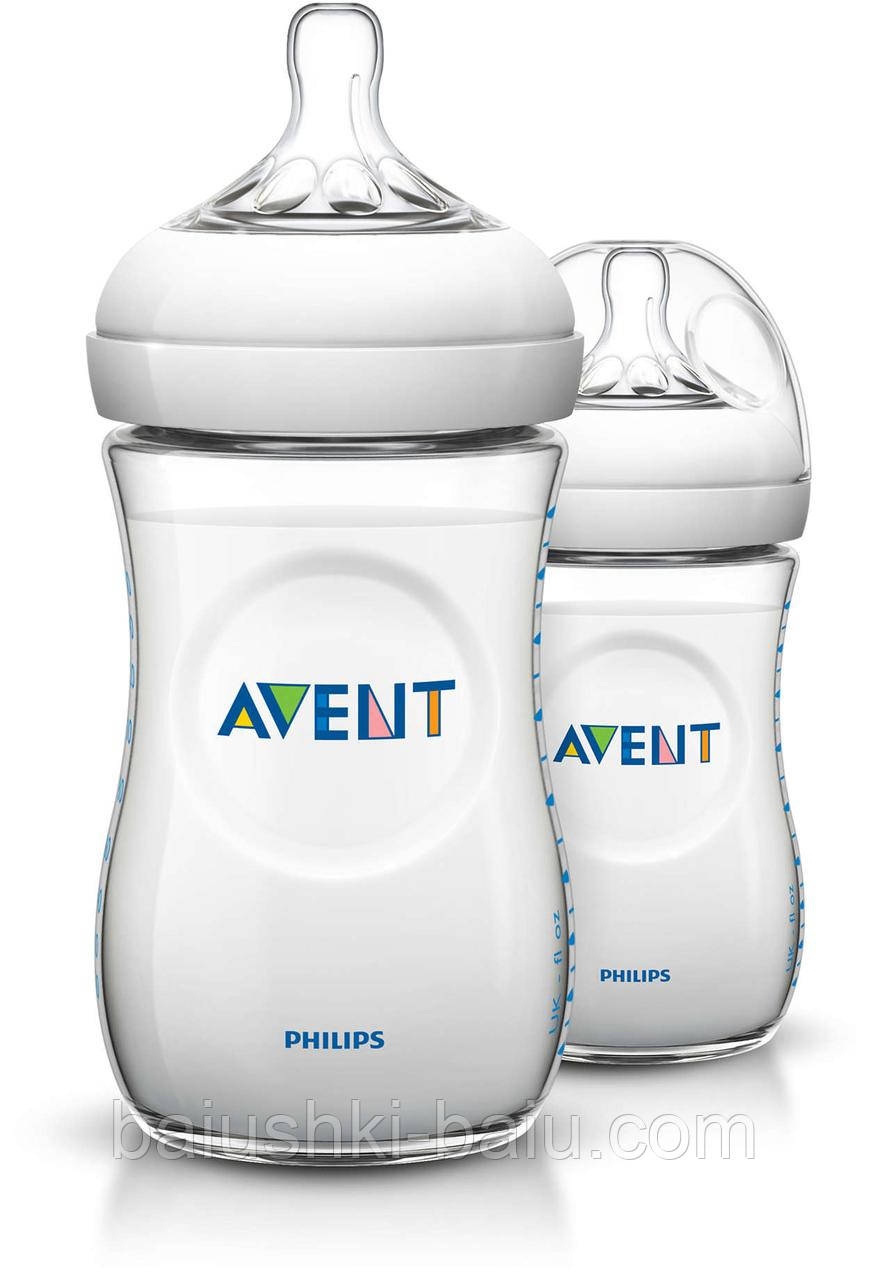 Пляшка для годування Philips AVENT Natural 2х260 мл
