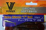 Силиконовая съедобная приманка Tube Worm (Червь), TBR-012, цвет 010, 10шт., фото 2