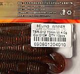 Силиконовая съедобная приманка Tube Worm (Червь), TBR-012, цвет 010, 10шт., фото 4