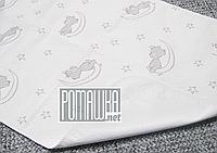 Жаккардовая утолщенная непромокаемая пеленка 70х50 см детская дышащая многоразовая 4146 Белый