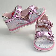 Детские босоножки сандалии для девочки на девочек 22р y.top. розовые
