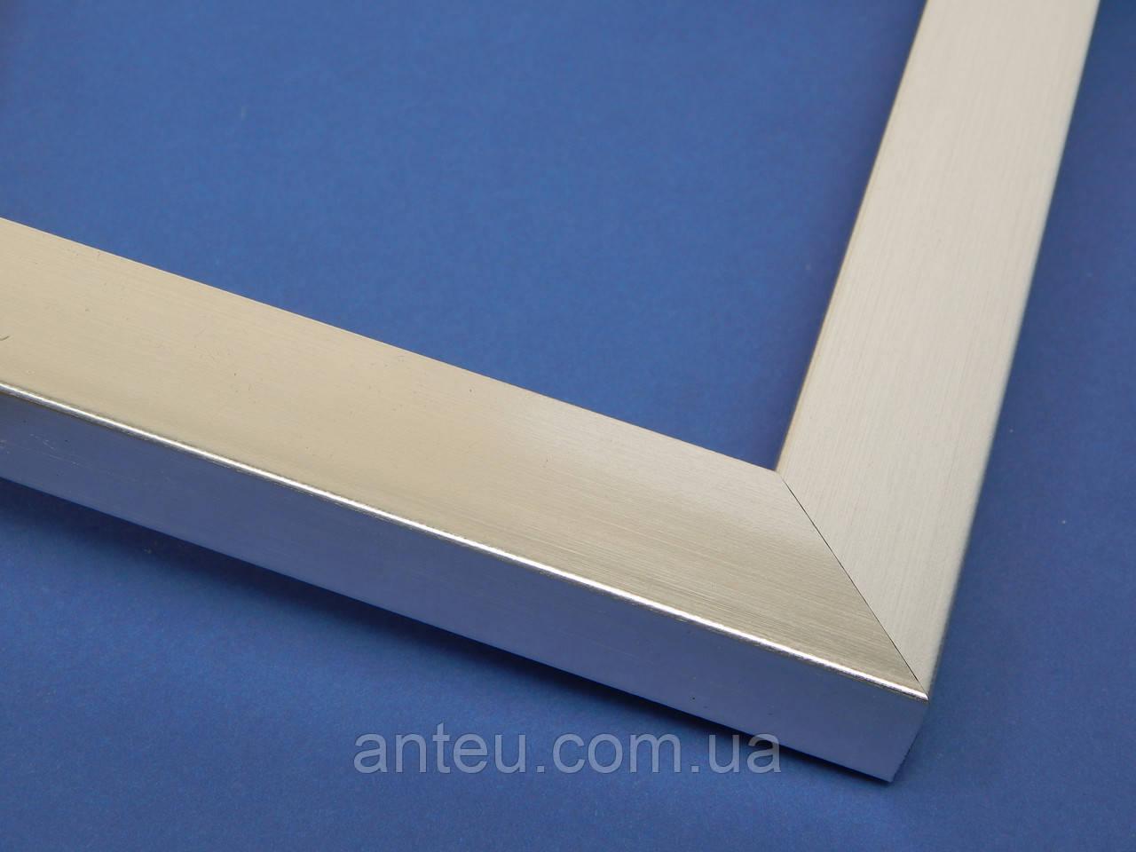 Рамка без стекла А2(420х594).Для картин,плакатов,фото...22 мм.Серебро металик