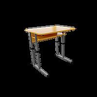 Растущая парта 1 серый бархат/оранжевый 70х50 (Металл дизайн) 120х50