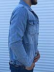 Мужской джинсовый пиджак (синий), фото 3