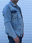 Мужской джинсовый пиджак (синий), фото 2