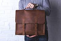 Сумка из натуральной кожи ручная работа Boorbon 616 деловой кейс портфель для документов брифкейс винтаж