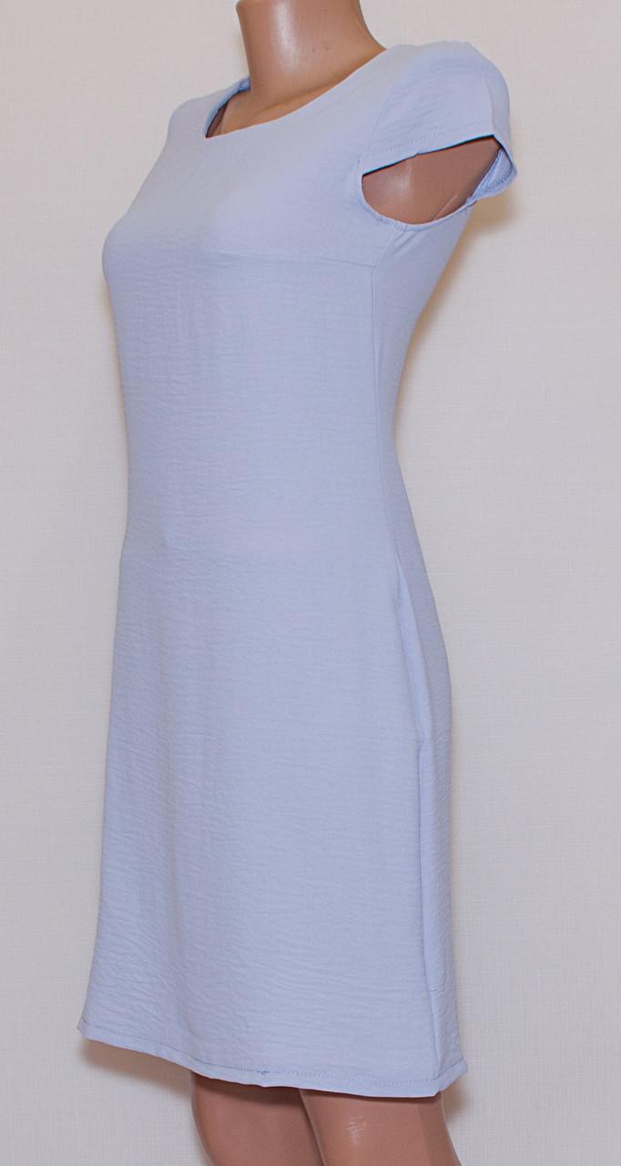 Літнє плаття приталене однотонне (42-44)