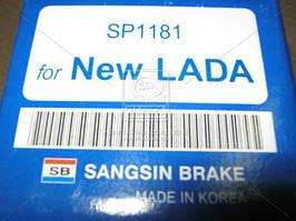 Колодки тормозные VAZ ВАЗ 2110, 2111, 2112 (SANGSIN). SP1181