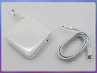 Блок питания для APPLE A1719 87W (20.2V 4.3A, 9V 3A, 5.2V 2.4A) Type-C (USB-C). (В комплекте Type-C кабель и вилка) ORIGINAL.