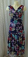 Платье женское легкое летнее в цветах бренд Yali р.44-46, фото 1