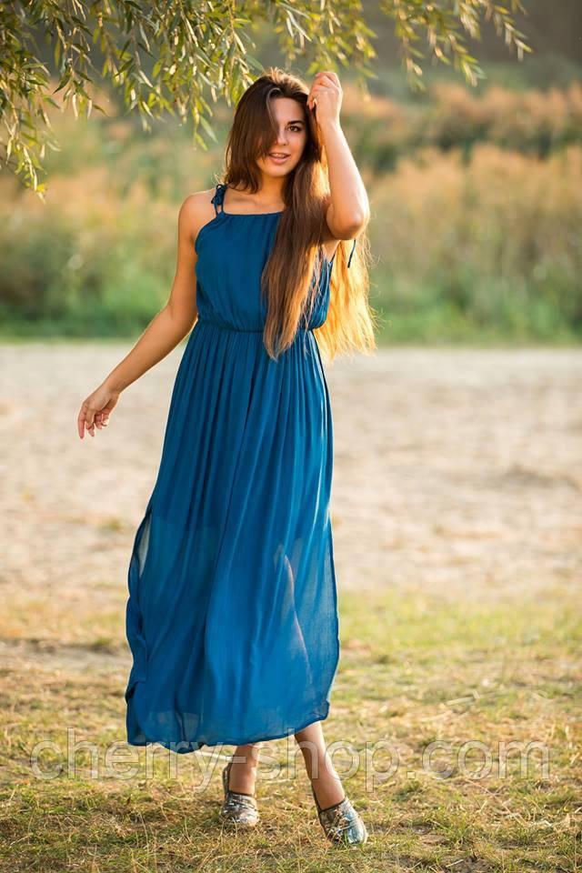 Літнє жіноче плаття в підлогу