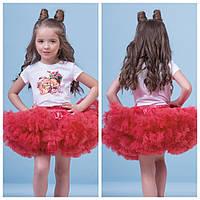 Красная пышная юбка + футболка zironka