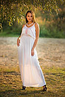Белое летнее женское платье в пол