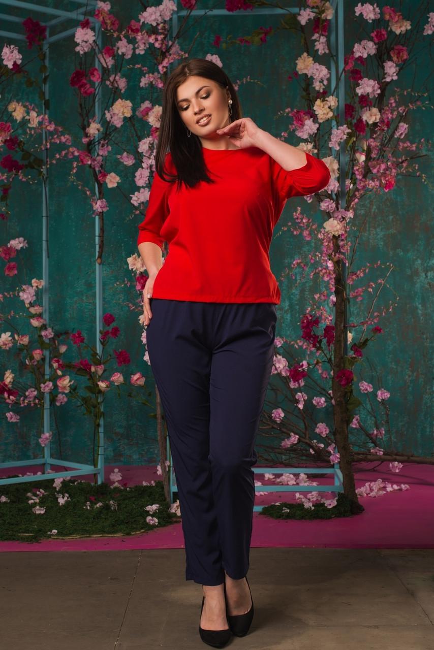 Женский батальный костюм (блузка и брюки)