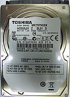 Жесткий диск HDD 700GB 5400rpm 8MB SATA II 2.5 Toshiba MK7575GSX Z1GAF0SXSN29, фото 1