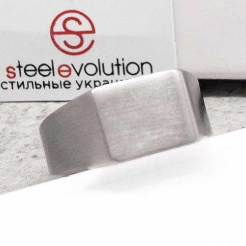 Кольцо-печатка из медицинской стали мужское 10 мм 165050