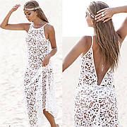 Пляжное платье туника ажурная