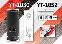 "Торцевая головка ударная 6-гранная глубокая 1/2"" x 19мм, YATO YT-1039"