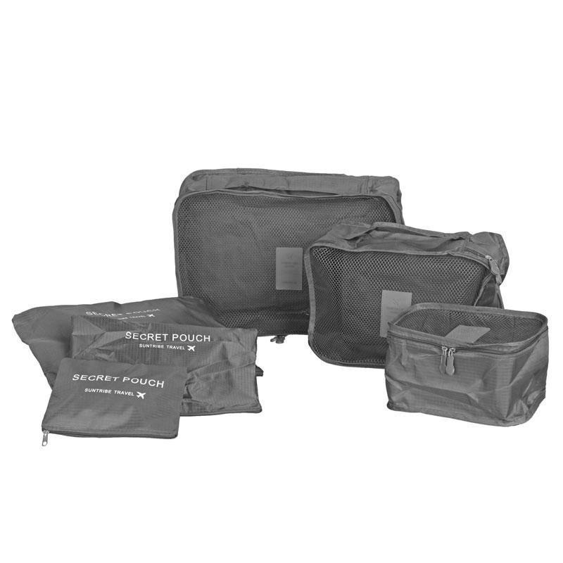 Набор Органайзеров для вещей Secret Pouch (6 штук в наборе) серый