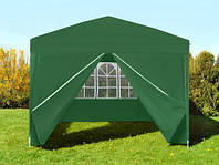 Садовий павільйон зелений 4 стінки 3x3 м Палатка Павильон Намет Садовый павильон Шатёр торговые палатки тенты