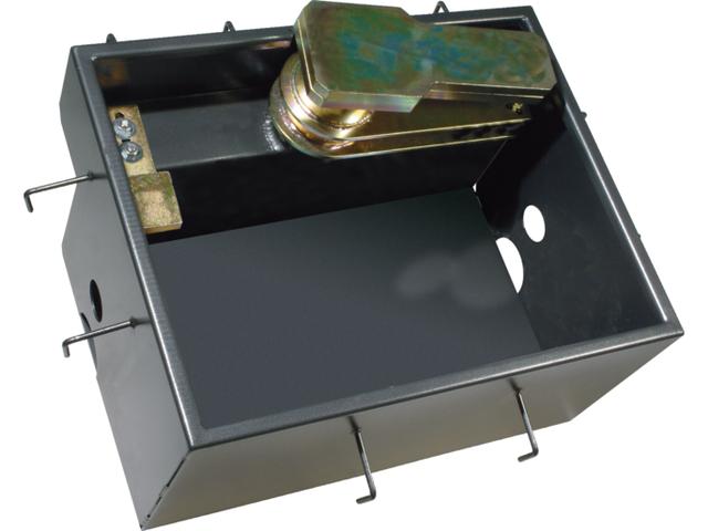 Правосторонний стальной корпус FROG-CD, обработанный катафорезом, корпус основания, в комплекте с фиксатором, фиксатором затвора и механическим упором