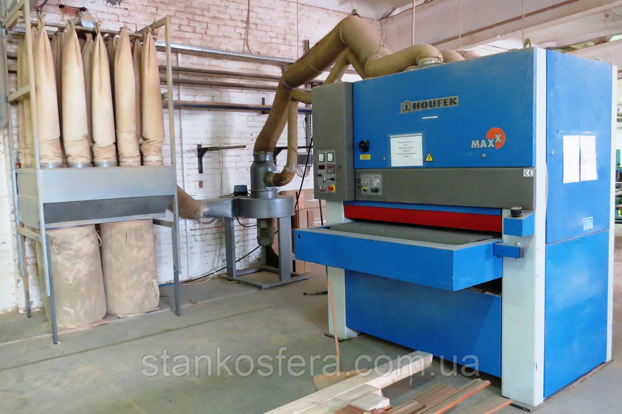 Калибровально-шлифовальный станок б/у Houfek Maxx 1300RC с двумя агрегатами промышленного типа