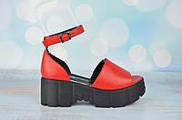 Красные женские босоножки на платформе Magnolya ТУРЦИЯ