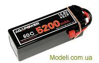Аккумулятор AGA POWER Li-Po 5200mAh 14.8V 4S1P 60C Hardcase T-Plug