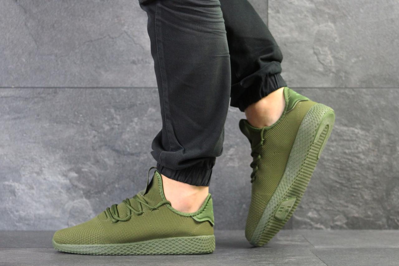 Легкие кроссовки зеленые текстиль зеленые