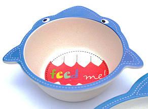 Комплект детской посуды из бамбукового волокна ЭКО-посуда набор из 5 предметов, фото 3