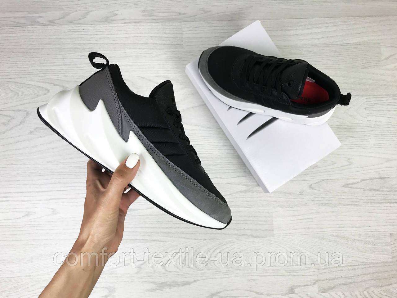 0ea18a33cf5e0a Кросівки жіночі Adidas Sharks чорно сірі з білим - ZIK shoes в Хмельницком